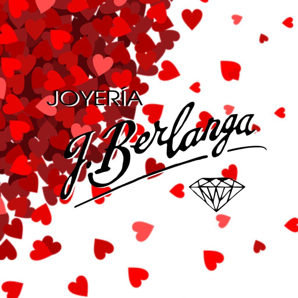 Joyería J. Berlanga logotipo modificado para San Valentín